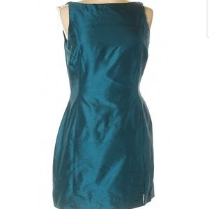 Dana Buchman Sleeveless Teal Dress Size 6